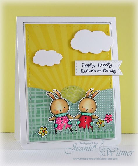 Gift Card Holder Handmade Carved Stamp Handmade Rabbit Notecard Set of 3 Tiny Cards Cute Bunny Mini Card  Gift Tag Set