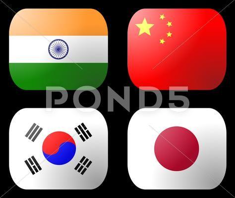China India Japan Korea Flag Clip Art Download 12622323 Japan Photoshop Design Downloadable Art