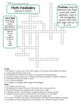 6th Grade Math Vocabulary Crossword Puzzle Freebie By Mary S Many Makings Math Vocabulary Middle School Math Worksheets Easy Math Worksheets