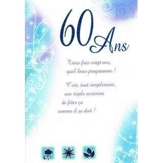carte anniversaire 60 ans carte