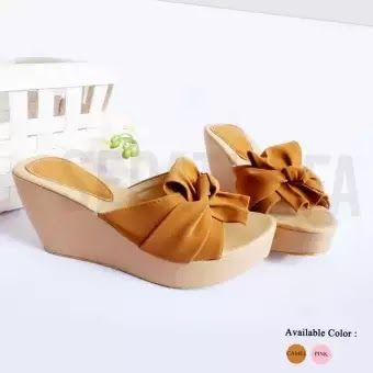 Sandal Selop Wanita Pita Di 2020 Sandal Wanita Flat Shoes