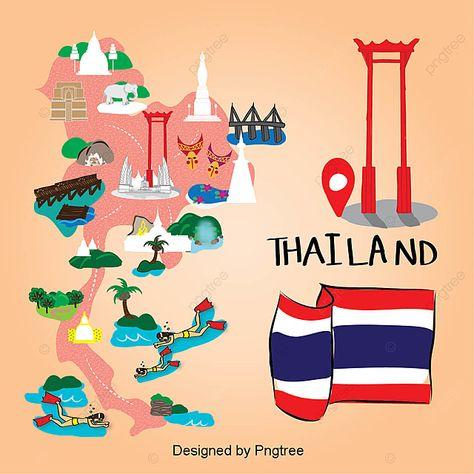 แผ นท ประเทศไทย กร งเทพมหานคร ไอคอนประเทศไทย ไอคอนแผ นงาน ธงประจำชาต ภาพ Png และ เวกเตอร สำหร บการดาวน โหลดฟร ในป 2021 กร งเทพมหานคร ภาพประกอบ ภาพ