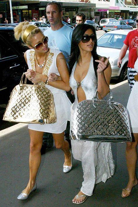 Let Kim Kardashian and Paris Hilton Take You on a Throwback Tour of Fashion Trends - Kim Kardashian Style