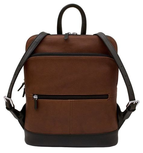 Women's Leather Backpack in great colors — from MUSEUM OUTLETS  #leatherbackpack