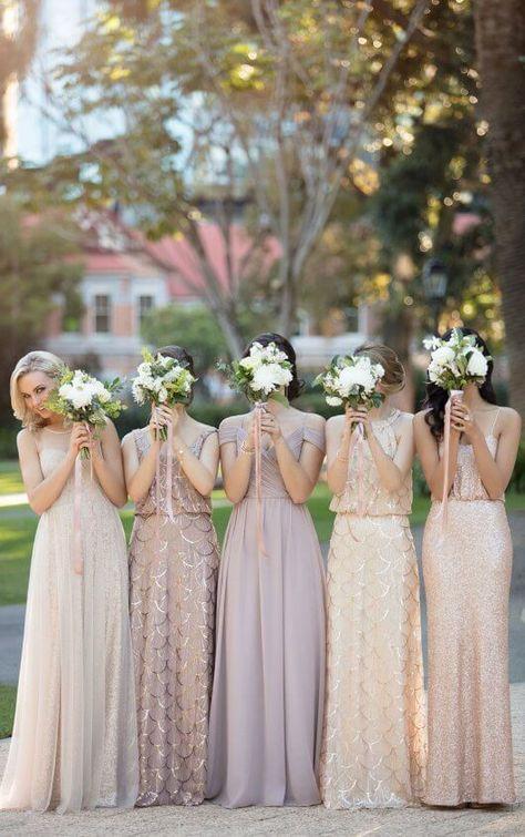 1b467e6ce27 Flirty V-Neck Sequin Bridesmaid Dress