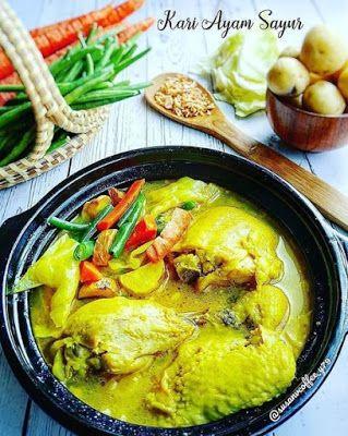 Resep Ayam Sayur : resep, sayur, Sayur, Resep, Masakan,, Resep,