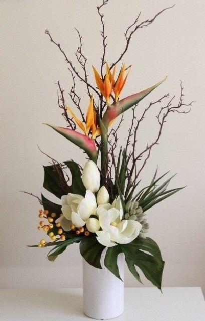 Best Modern Flower Arrangement Ideas Picture 40 2019 Best Modern Flower Arrangeme Tropical Floral Arrangements Tropical Flower Arrangements Corporate Flowers