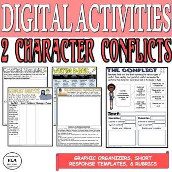 Types Of Conflict Worksheets Short Response Rubric Writing Activity Pdf Digi Middle School Writing Activities High School Writing Activities Literature Lessons