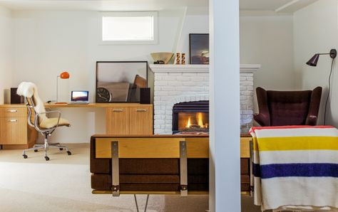 the before and after photos of a 1912 basement reno living room rh pinterest ie