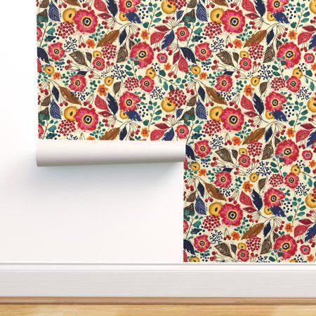 Home Improvement In 2020 Block Print Wallpaper Self Adhesive Wallpaper Adhesive Wallpaper