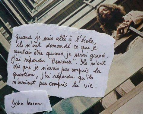 Heureux ~ John Lennon
