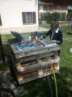 Una cucina dallo stile rustico, magari per una casa in campagna oppure per una cucina esterna. Vivere Naturale Cucina Multifunzionale Trasportatile Fai Da Te Cucina Esterna Fai Da Te Cucine Da Esterno Cucina Cortile
