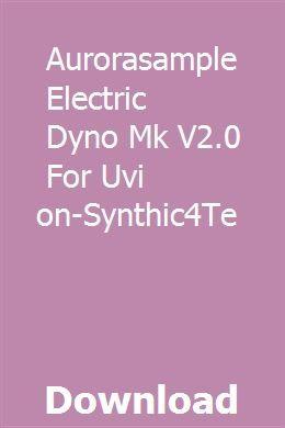Aurorasample Electric Dyno Mk V2 0 For Uvi Falcon-Synthic4Te
