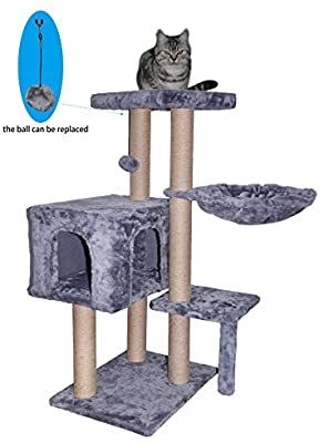 Amazon Com Wiki 002g Cat Tree Has Scratching Toy With A Ball