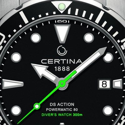 Certina Ds Action Diver With Powermatic 80 Automatic Movement In 2020 Diver Automatic Movement Dive Watches