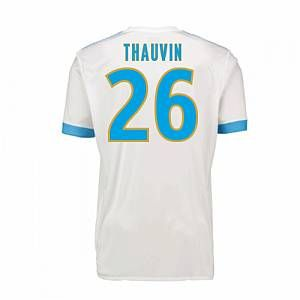 2017-18 Marseille Adidas Home Shirt (Kids) (Thauvin 26)
