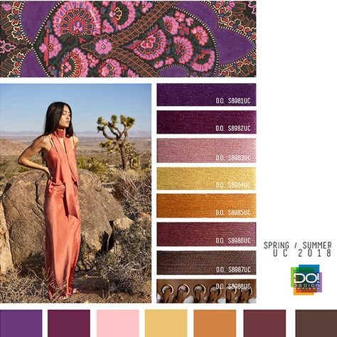#DesignOptions SS18 color report on #WeConnectFashion, Women's markets mood details: Bohemian Dream, detail.