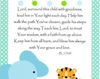 Image result for baptism poems and prayers for baby boy