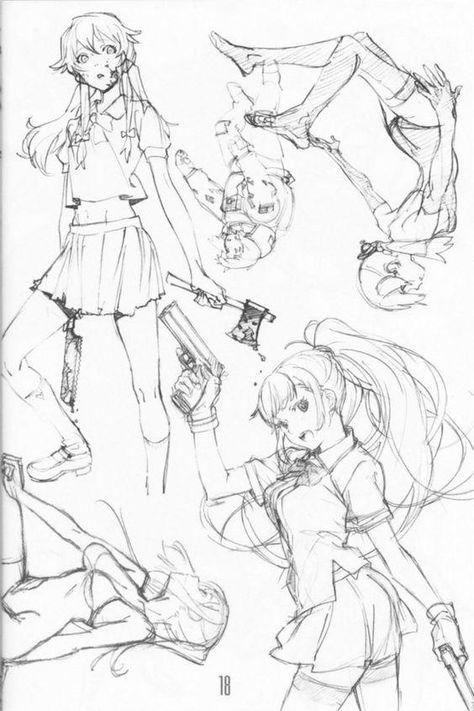 Dialogi Anime Sketch Drawings Art Reference Poses
