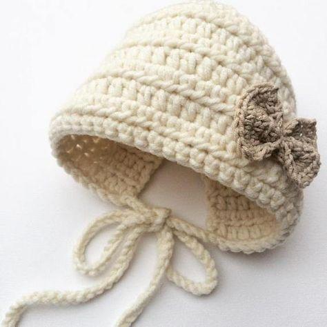 b8b51ba9ab7 Baby girl crochet bonnet