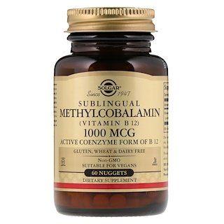 Solgar Sublingual Methylcobalamin Vitamin B12 1 000 Mcg 60