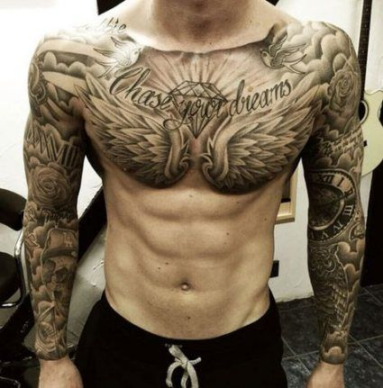 56 Ideas Tattoo Ideas Unique Men Chest For 2019 Chest Tattoo Men Cool Chest Tattoos Tattoos For Guys Badass