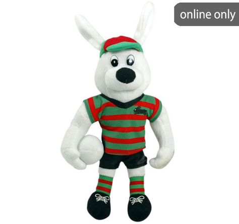 Nrl Team Logo Quilt Cover Set And Accessories Range South Sydney Rabbitohs Toy Bulldog Mascot Plush Toys