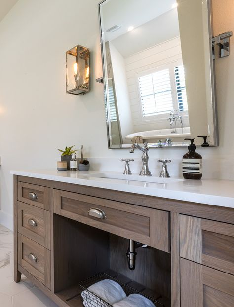 bathroom vanity oak cabinets stained with custom color with white rh pinterest com au