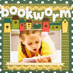 bookworm scrapbook layout