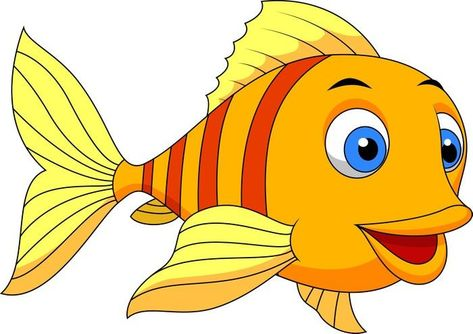 Cute Fish Cartoon Wall Mural Easy Installation 365 Days To Return Browse Other Patterns From This Collection Niedliche Fische Fisch Zeichnung Meerestiere