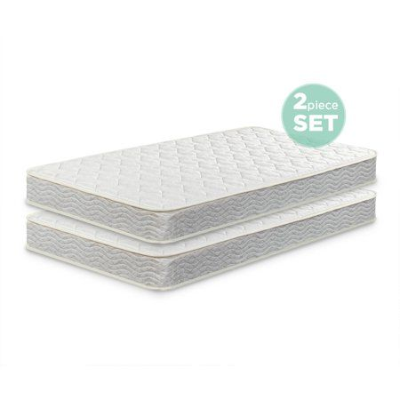 Slumber 1 By Zinus Comfort 6 Twin Pack Bunk Bed Spring Mattress Mattresses Only Walmart Com Mattress Springs Mattress Bed Springs