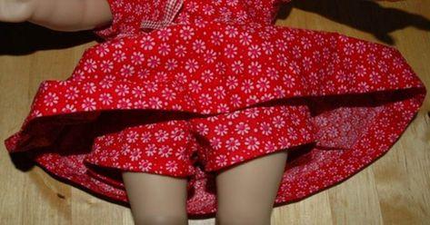 Skort - Skirt - Bodysuit Pattern to Fit American Girl 18 Inch Dolls