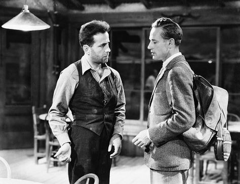 Leslie Howard as Alan Squier and Humphrey Bogart as Duke Mantee in The Petrified Forest 1936