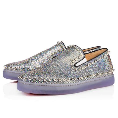 8a6b4397d68 CHRISTIAN LOUBOUTIN Pik Boat Glitter Disco Ball Multicolor Glitter Canvas - Men  Shoes - Christian Louboutin.  christianlouboutin  shoes