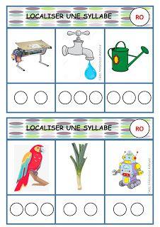 Chez Maicresse Karine Localiser Des Syllabes Jeu Phono Gs