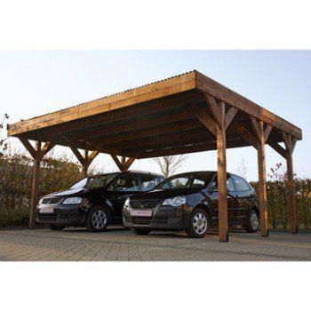 Carport Bois Enzo 2 Voitures 29 48 M Leroy Merlin Carport Bois Dessins Carport Garage Pour Voiture