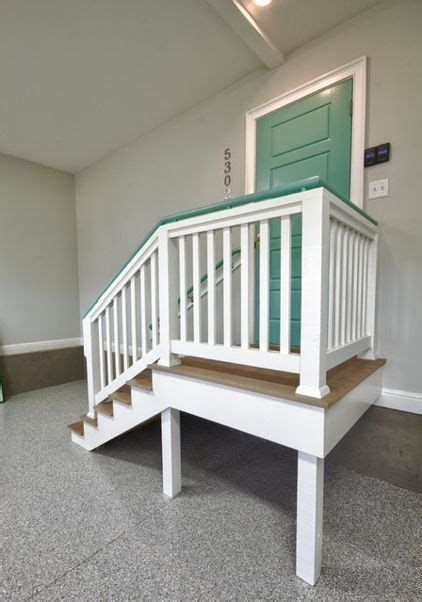 Image Result For Garage Landing And Stair Ideas Garage Stairs Home Garage Steps