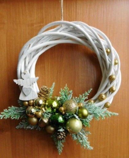 Piekny Wianek Na Drzwi Stroik Boze Narodzenie 7680787359 Oficjalne Archiwum Allegro Christmas Wreaths Christmas Diy Christmas