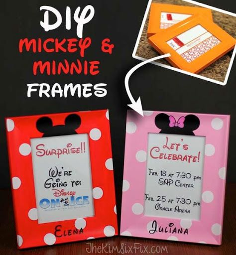 Diy Personalized Mickey And Minnie Frames Diy Gifts Disney Diy