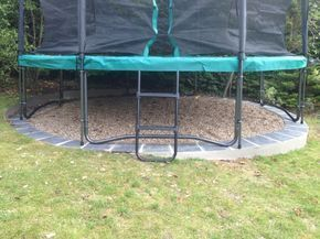 My Bespoke Solutions Trampoline Foundations Backyardtrampolinepatio Backyardtrampolineyards Garten Terrasse Garten Trampoline