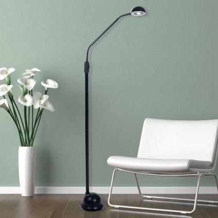 Lavish Home Modern High Power 5 Led Floor Lamp Black Floor Lamp Adjustable Floor Lamp Silver Floor Lamp