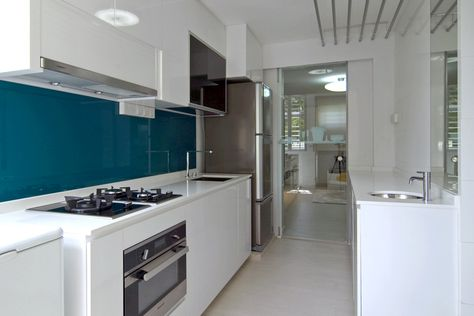 Kitchen Backsplash Singapore 2b white kitchen teal backsplash : a stunning 3d adaptation of