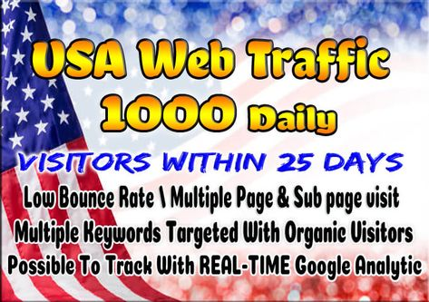 Europe Keyword Targeted or Social /& Organic Web TRAFFIC in 24h 500 American