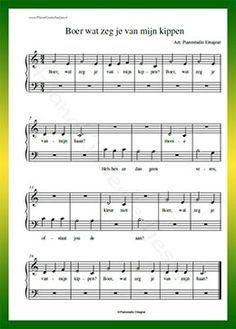 Verwonderend Boer wat zeg je van mijn kippen - Gratis bladmuziek van CR-45