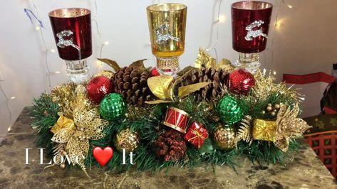diy dollar tree christmas decor glam decor crafts centerpiece rh pinterest ru