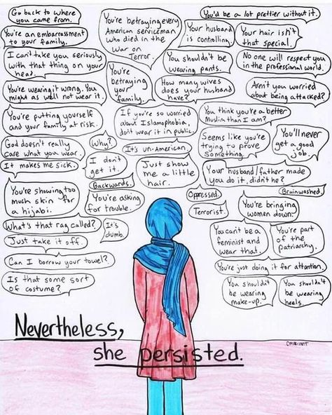 Nevertheless, she persisted. ✊ : Hijabis