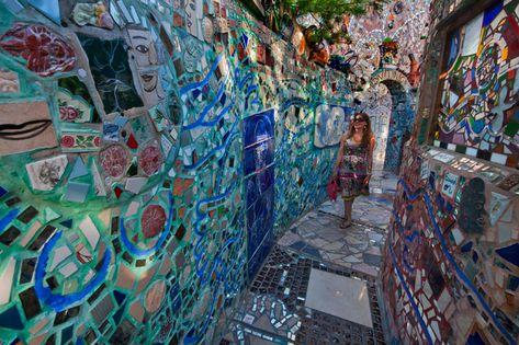 Philadelphias Magic Gardens Where grafitti and found objects take