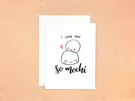 I Love You So Mochi | Anniversary Card | Valentine's Day Card | Just Because Card | Cute Card | Food