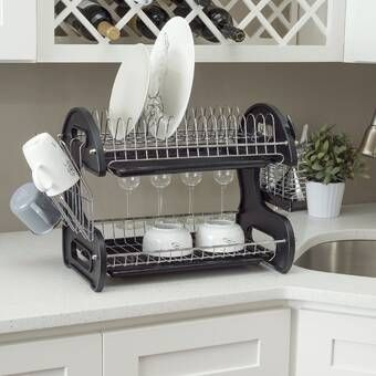 Stainless Steel Countertop Dish Rack Home Basics Dish Racks