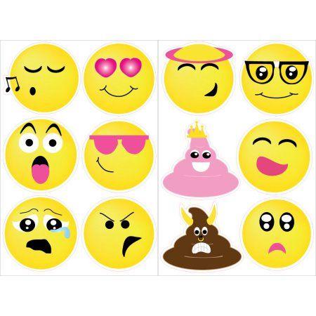 Emoji Wall Stickers Decals Emoji Room Decor And Party Decorations Walmart Com In 2020 Emoji Room Emoji Wall Decals Emoji Decorations